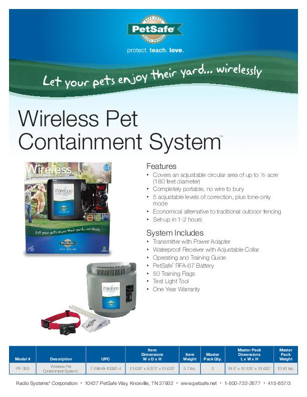 PetSafe Wireless PIF-300- Best Wireless Dog Fence Reviews