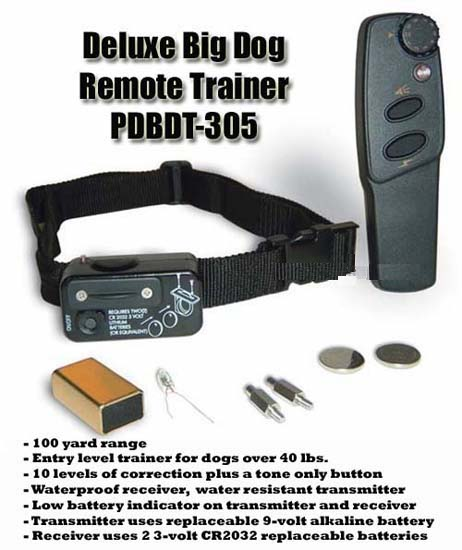 PetSafe Deluxe Big Dog Trainer PDBDT-305 Best Bark Dog Training Collar